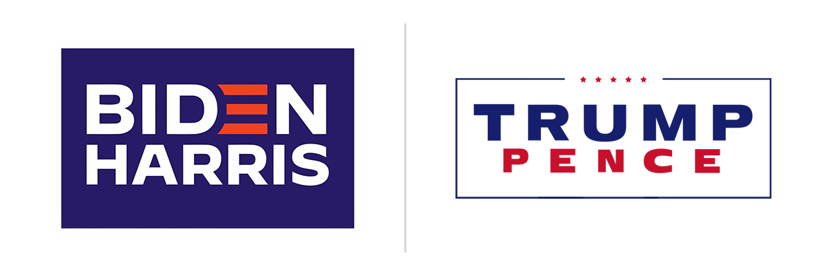 2020 presidential election campaign logos