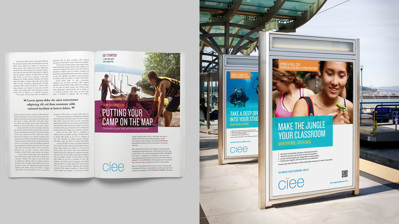 Booklet and outdoor display ad